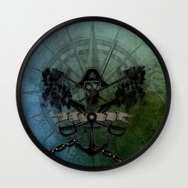 Pirate design, a pirate's life for me Wall Clock