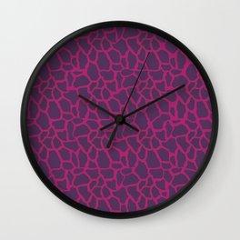 Plum Raspberry Giraffe Wall Clock