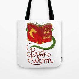 Book Wyrm Tote Bag