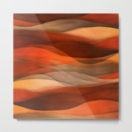 """Sea of sand and caramel waves"" Metal Print"