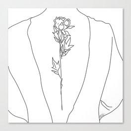 Feminine Floral Back Tat V2 Canvas Print