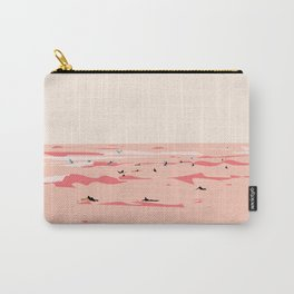 Sunset Tiny Surfers in Lima Illustrated Carry-All Pouch
