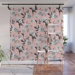 Peonies Mono Blush Wall Mural
