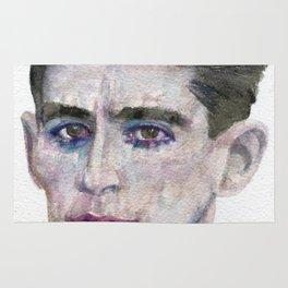 FRANZ KAFKA - watercolor portrait Rug