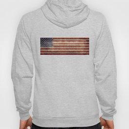 USA flag - Retro vintage Banner Hoody