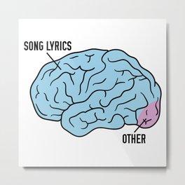 If I had a brain Metal Print