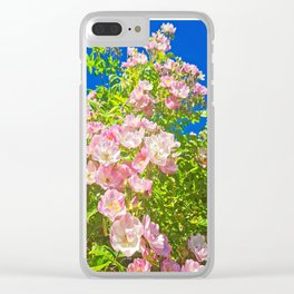 Sun Soaked Roses Clear iPhone Case