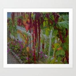 Weeping Flowers Art Print