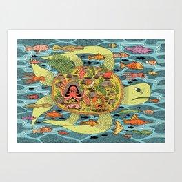 Giant Turtle Art Print
