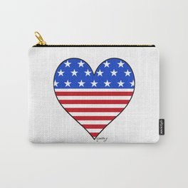 USA Heart Carry-All Pouch