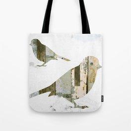 Reclaimed Wood Birds Tote Bag