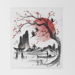 Japan dream Throw Blanket