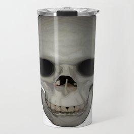 Human Skull Vector Isolated Travel Mug