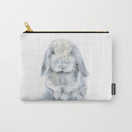 Mini Lop Gray Rabbit Watercolor Painting Carry-All Pouch