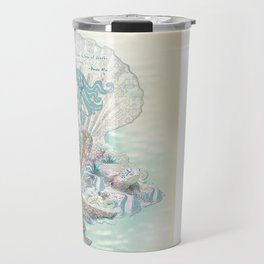 Anais Nin Mermaid [vintage inspired] Art Print Travel Mug
