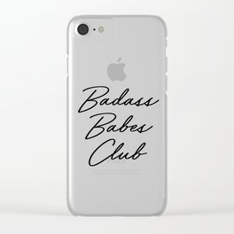 Badass Babes Club 2 Clear iPhone Case