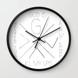 God is greater Wall Clock