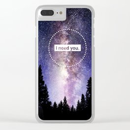 Bellamy and Clarke - I need you Clear iPhone Case