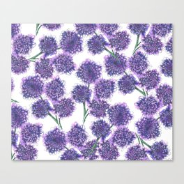 Butterfly Blue Floral Pattern Canvas Print