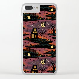 Halloween Night - Bonfire Glow Clear iPhone Case