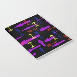 Neon Arrow Notebook