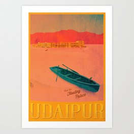 Vintage Travel Poster - Upaipur / India Art Print