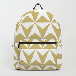 Mid Century Modern Triangle Pattern 531 Gold Backpack