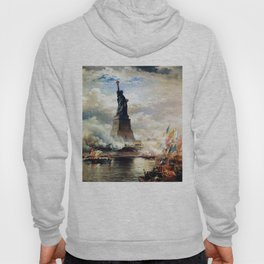 Statue of Liberty Unveiled by Edward Moran Hoody