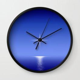 Horizon Star Blue Wall Clock