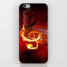 Hot Music Notes iPhone Skin