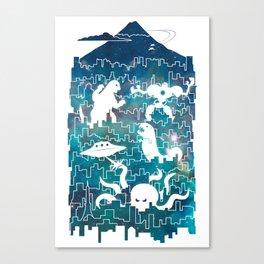 Tokyo Smackdown Canvas Print
