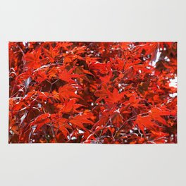Japanese Red Maple Leaves Rug