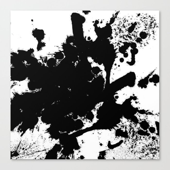 black and white splat abstract black paint splatter painting