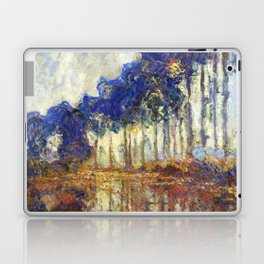 Poplars on the Bank of the Epte River by Claude Monet Laptop & iPad Skin