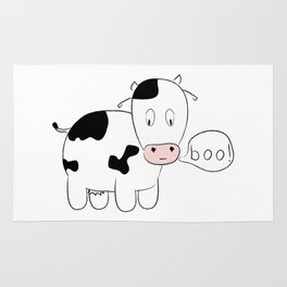 SOLD! Scary Cow - Inspired by a True Incident! Rug