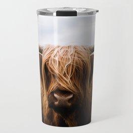 Scottish Highland Cattle in Scotland Portrait II Travel Mug