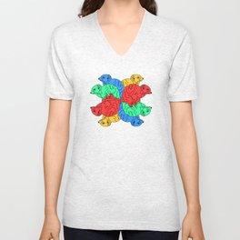 Circle Of Colour White (Meerkats) Unisex V-Neck