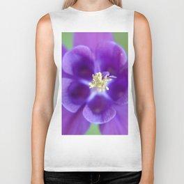 Fluid Nature - Purple Aquilegia Flower Biker Tank