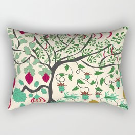 Fairy seamless pattern garden with plants, tree and flowers Rectangular Pillow