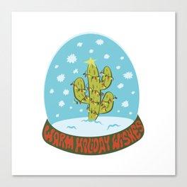 Cactus Snow Globe Canvas Print