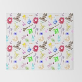 Magic symbols Throw Blanket