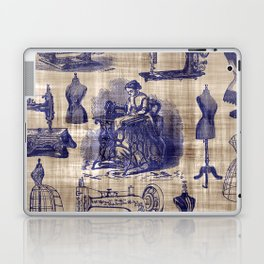 Vintage Sewing Toile Laptop & iPad Skin