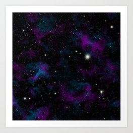 Blue and Purple Galaxy Art Print