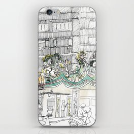 sketch_temple iPhone Skin
