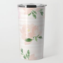 Gigi Collection - Peach Peony Travel Mug