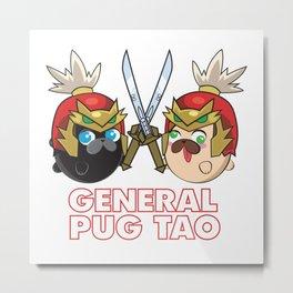 Poopie and Doopie - General Pug Tao Metal Print