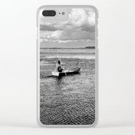 Natural bucolic view in Biebrza wetland Clear iPhone Case