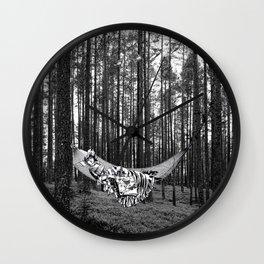 BETWEEN TREES Wall Clock