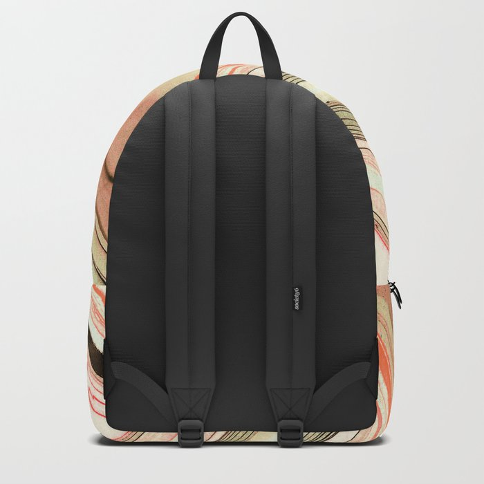 Watercolor strokes on wood Backpack