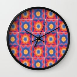 Painted Sunny Wall Clock